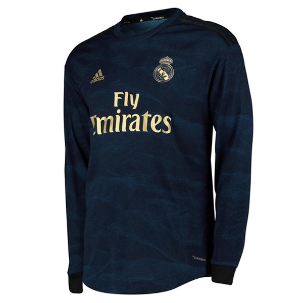 Camiseta Real Madrid 2ª Kit ML 2019 2020 Azul