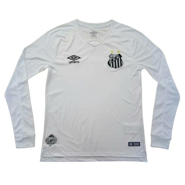 Camiseta Santos 1ª Kit ML 2019 2020 Blanco