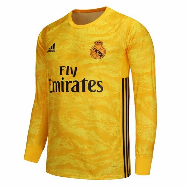 Camiseta Real Madrid 1ª Kit ML Portero 2019 2020 Amarillo