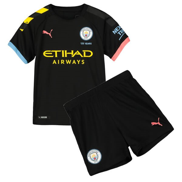 Camiseta Manchester City 2ª Kit Niño 2019 2020 Negro