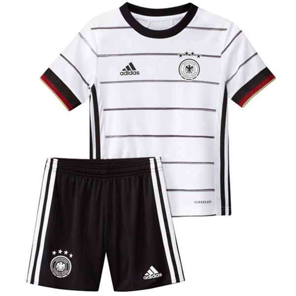 Camiseta Alemania 1ª Kit Niños 2020 Blanco