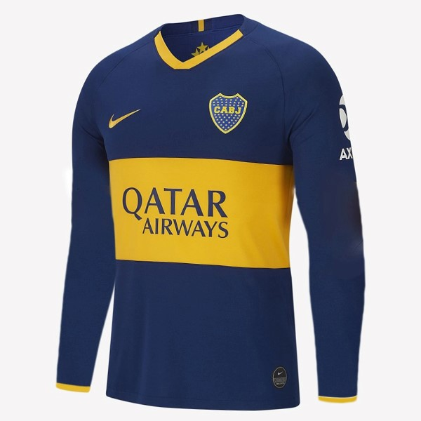 Camiseta Boca Juniors 1ª Kit ML 2019 2020 Azul