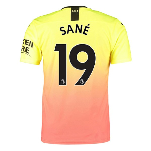 Camiseta Manchester City NO.19 Sane 3ª Kit 2019 2020 Naranja
