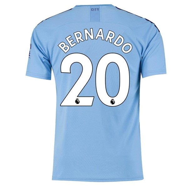 Camiseta Manchester City NO.20 Bernardo 1ª Kit 2019 2020 Azul