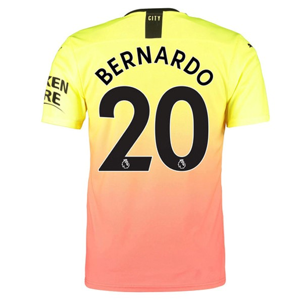 Camiseta Manchester City NO.20 Bernardo 3ª Kit 2019 2020 Naranja