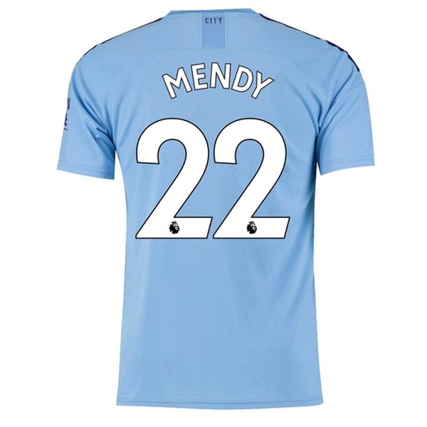 Camiseta Manchester City NO.22 Mendy 1ª Kit 2019 2020 Azul