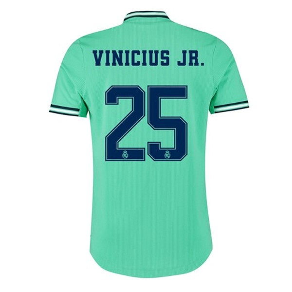 Camiseta Real Madrid NO.25 Vinicius JR. 3ª Kit 2019 2020 Verde