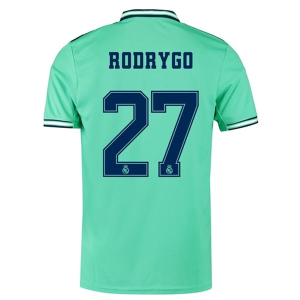 Camiseta Real Madrid NO.27 Rodrygo 3ª Kit 2019 2020 Verde