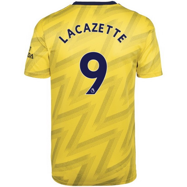 Camiseta Arsenal NO.9 Lacazette 2ª Kit 2019 2020 Amarillo