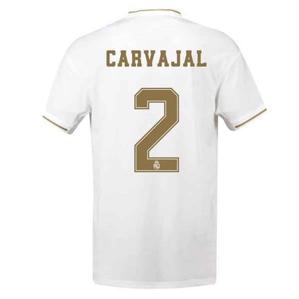 Camiseta Real Madrid NO.2 Carvajal 1ª Kit 2019 2020 Blanco