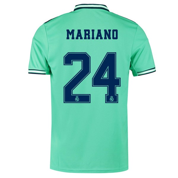 Camiseta Real Madrid NO.24 Mariano 3ª Kit 2019 2020 Verde