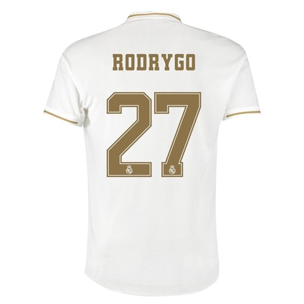 Camiseta Real Madrid NO.27 Rodrygo 1ª Kit 2019 2020 Blanco