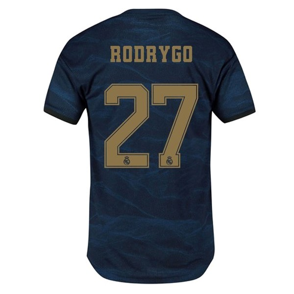 Camiseta Real Madrid NO.27 Rodrygo 2ª Kit 2019 2020 Azul