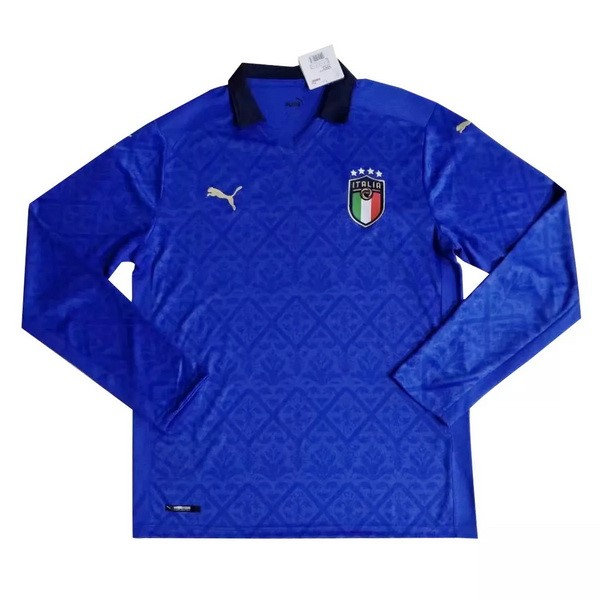 Tailandia Camiseta Italia 1ª Kit ML 2020 Azul
