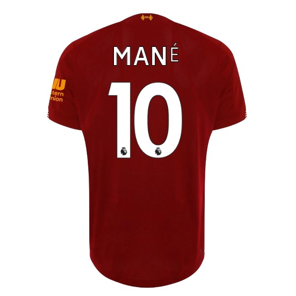 Camiseta Liverpool NO.10 Mane 1ª Kit 2019 2020 Rojo