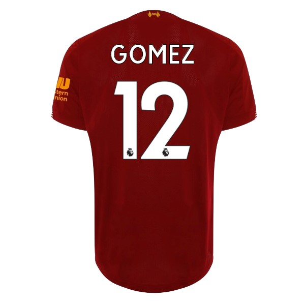 Camiseta Liverpool NO.12 Gomez 1ª Kit 2019 2020 Rojo