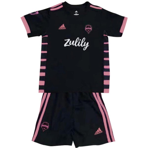 Camiseta Seattle Sounders 2ª Kit Niño 2019 2020 Negro