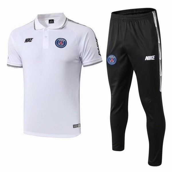 Polo Conjunto Completo Paris Saint Germain 2019 2020 Blanco
