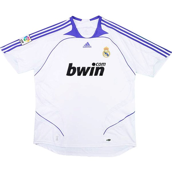 Tailandia Camiseta Real Madrid 1ª Kit Retro 2007 2008 Blanco