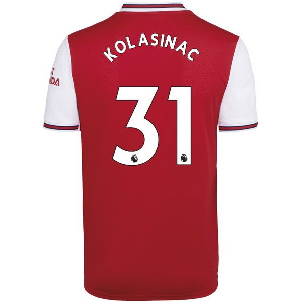 Camiseta Arsenal NO.31 Kolasinac 1ª Kit 2019 2020 Rojo