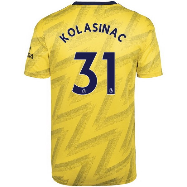 Camiseta Arsenal NO.31 Kolasinac 2ª Kit 2019 2020 Amarillo