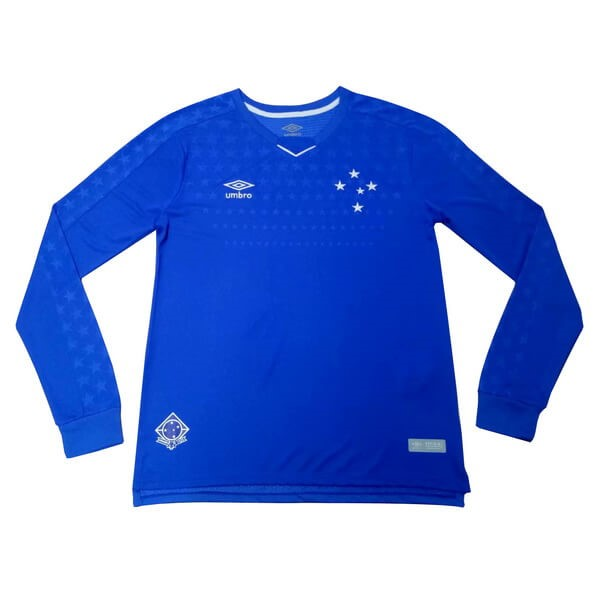Camiseta Cruzeiro EC 1ª Kit ML 2019 2020 Azul