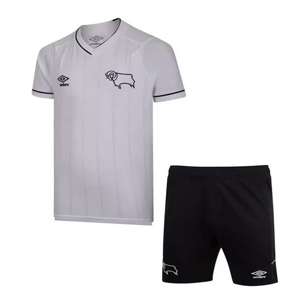 Camiseta Derby County 1ª Kit Niños 2020 2021 Blanco