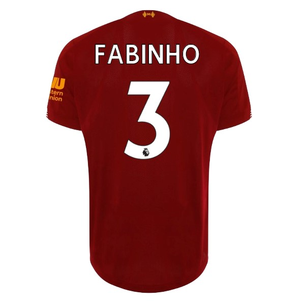 Camiseta Liverpool NO.3 Fabinho 1ª Kit 2019 2020 Rojo