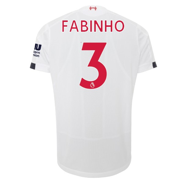 Camiseta Liverpool NO.3 Fabinho 2ª Kit 2019 2020 Blanco
