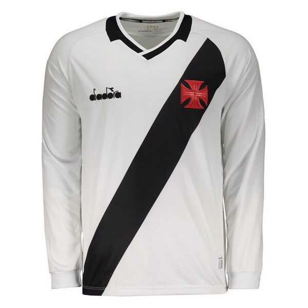 Camiseta Vasco da Gama Diadora 2ª Kit ML 2019 2020 Blanco