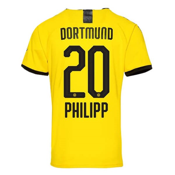 Tailandia Camiseta Borussia Dortmund NO.20 Phillipp 1ª Kit 2019 2020 Amarillo