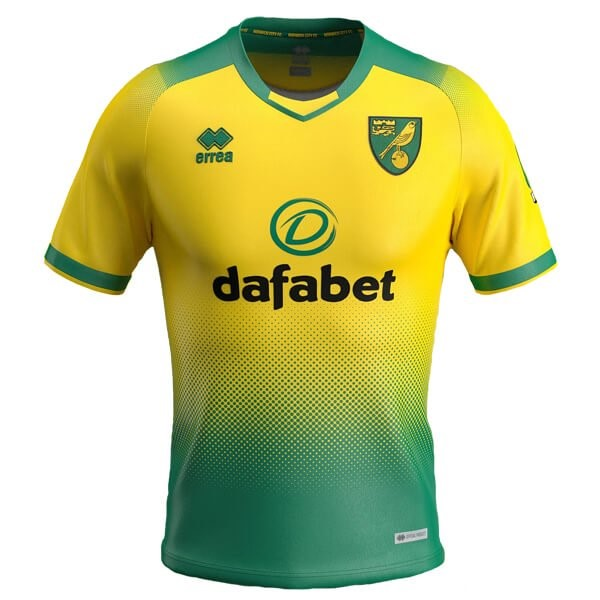 Tailandia Camiseta Norwich City errea 1ª Kit 2019 2020 Verde