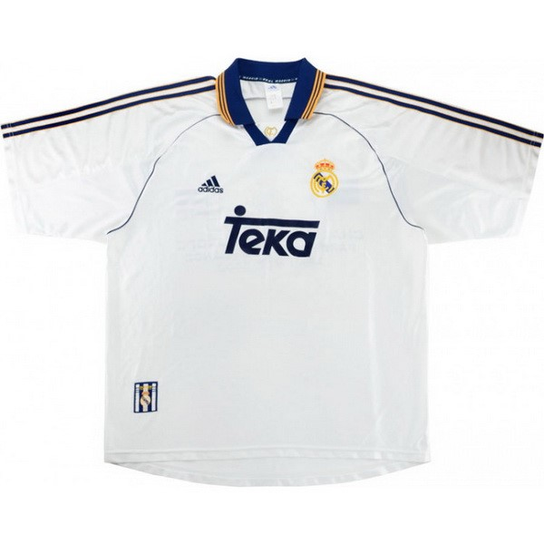 Tailandia Camiseta Real Madrid 1ª Kit Retro 1999 2000 Blanco