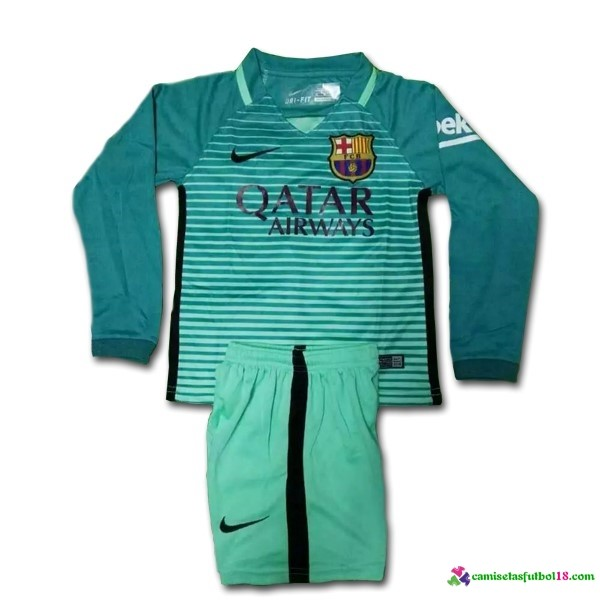 3ª Kit ML Conjunto Camiseta Barcelona Niño 2016 2017