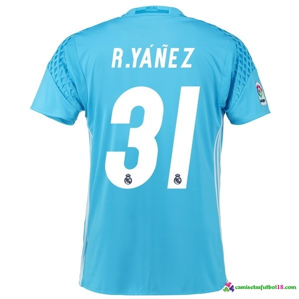 R.Yanez Camiseta 1ª Kit Real Madrid Portero 2016 2017