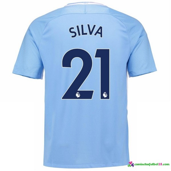 Silva Camiseta 1ª Kit Manchester City 2017 2018