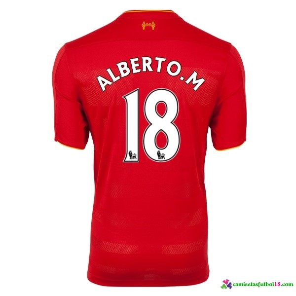 Alberto.M Camiseta 1ª Kit Liverpool 2016 2017