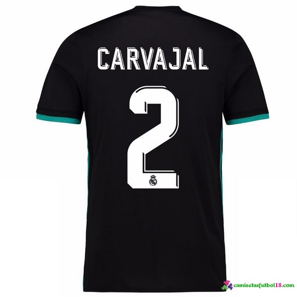 Carvajal 2 Camiseta 2ª Kit Real Madrid 2017 2018