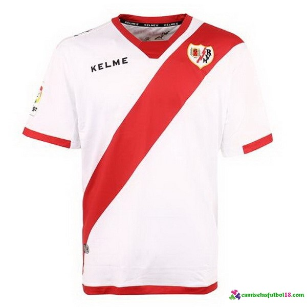 Tailandia Camiseta 1ª Kit Rayo Vallecano de Madrid 2017 2018