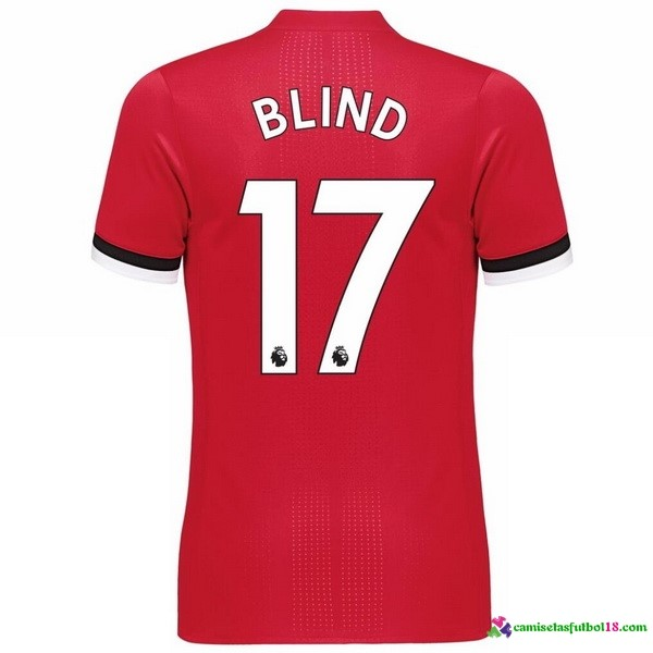 Blind Camiseta 1ª Kit Manchester United 2017 2018