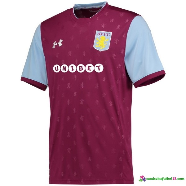 Camiseta 1ª Kit Aston Villa 2017 2018