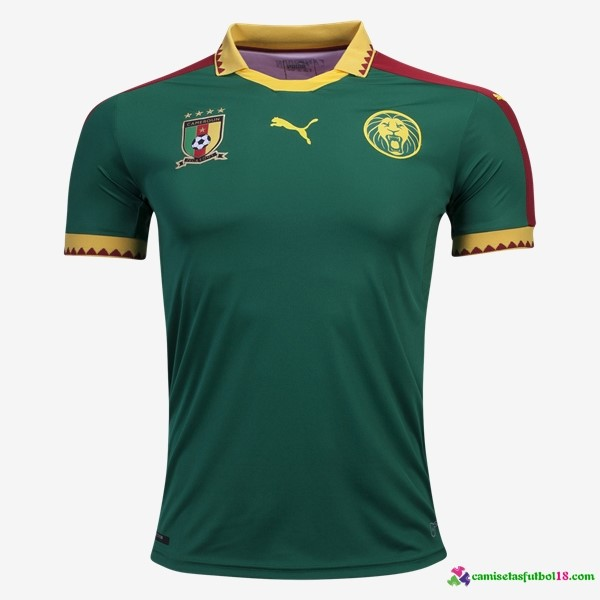 Camiseta 1ª Kit Camerun 2017