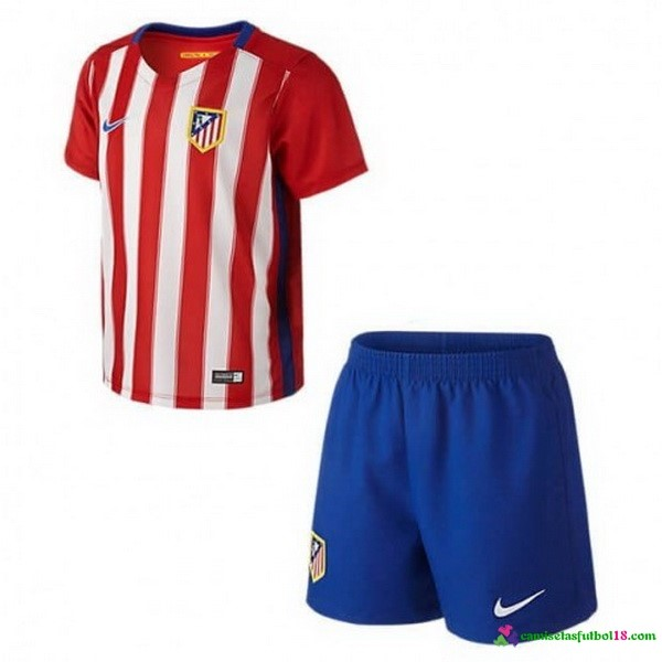 Camiseta 1ª Kit Conjunto Atletico Madrid Niño 2016 2017