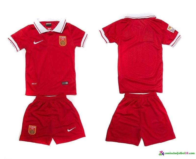Camiseta 1ª Kit Conjunto China Niño 2016