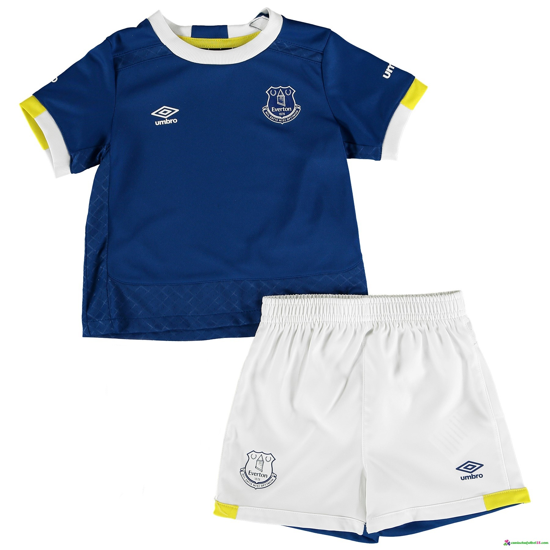 Camiseta 1ª Kit Conjunto Everton Niño 2016 2017