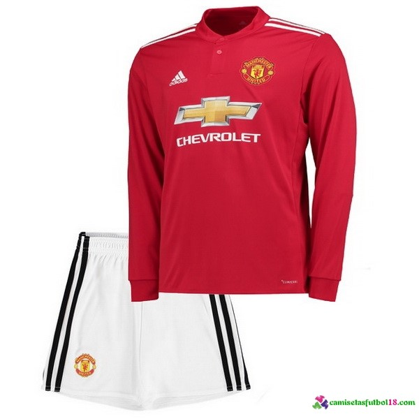 Camiseta 1ª Kit Conjunto ML Niño Manchester United 2017 2018