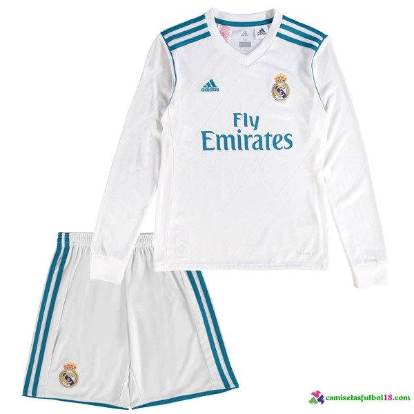 Camiseta 1ª Kit Conjunto ML Niño Real Madrid 2017 2018