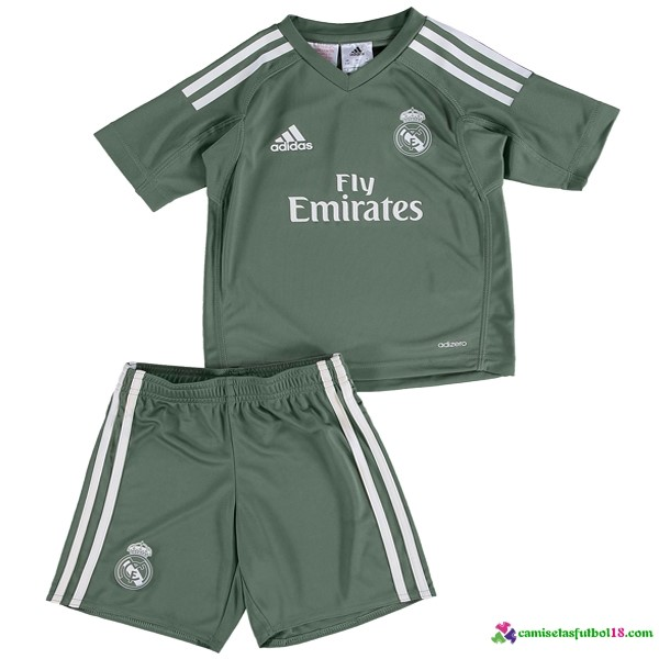 Camiseta 1ª Kit Conjunto Real Madrid Portero Niño 2017 2018
