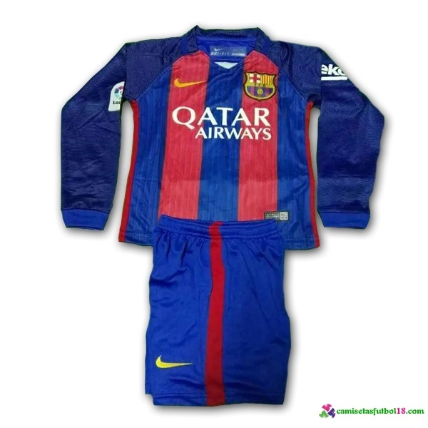 Camiseta 1ª Kit ML Conjunto Barcelona Niño 2016 2017