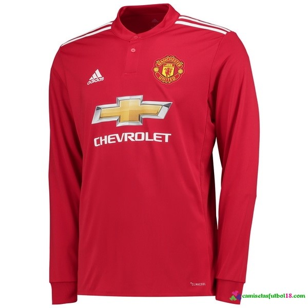 Camiseta 1ª Kit ML Manchester United 2017 2018